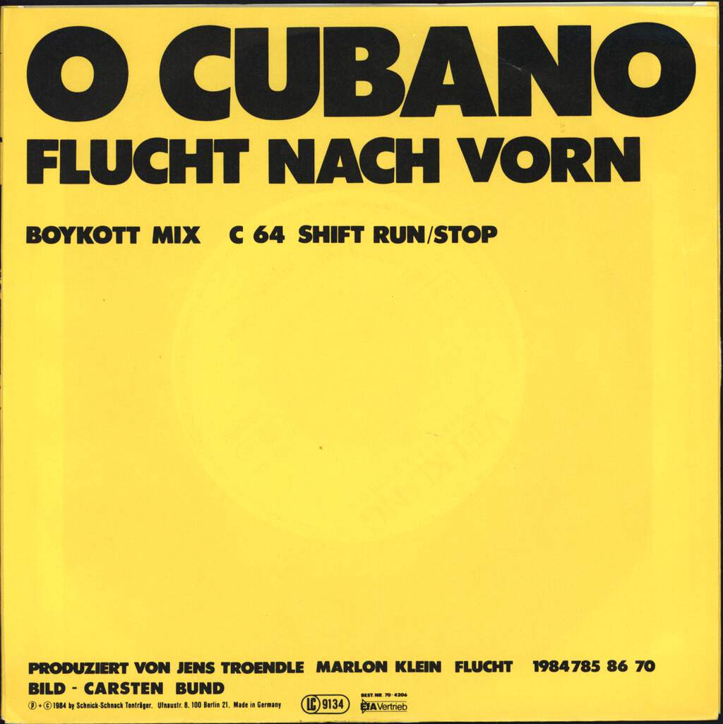 "Flucht Nach Vorn: O Cubano, 7"" Single (Vinyl)"