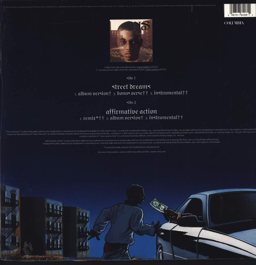 "Nas: Street Dreams, 12"" Maxi Single (Vinyl)"