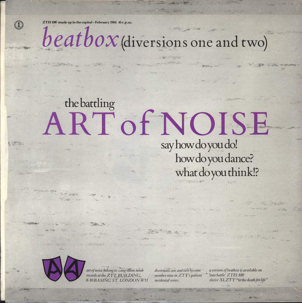 "Art Of Noise: Beat Box, 12"" Maxi Single (Vinyl)"