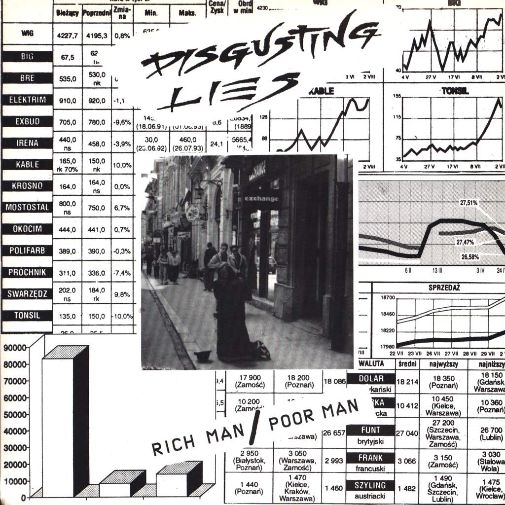 "Disgusting Lies: Rich Man / Poor Man, 7"" Single (Vinyl)"