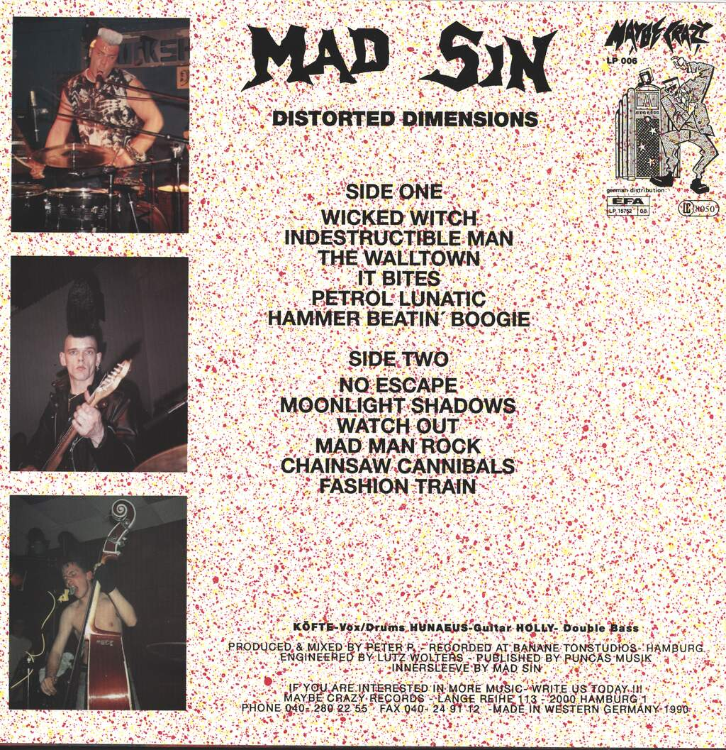 Mad Sin: Distorted Dimensions, LP (Vinyl)