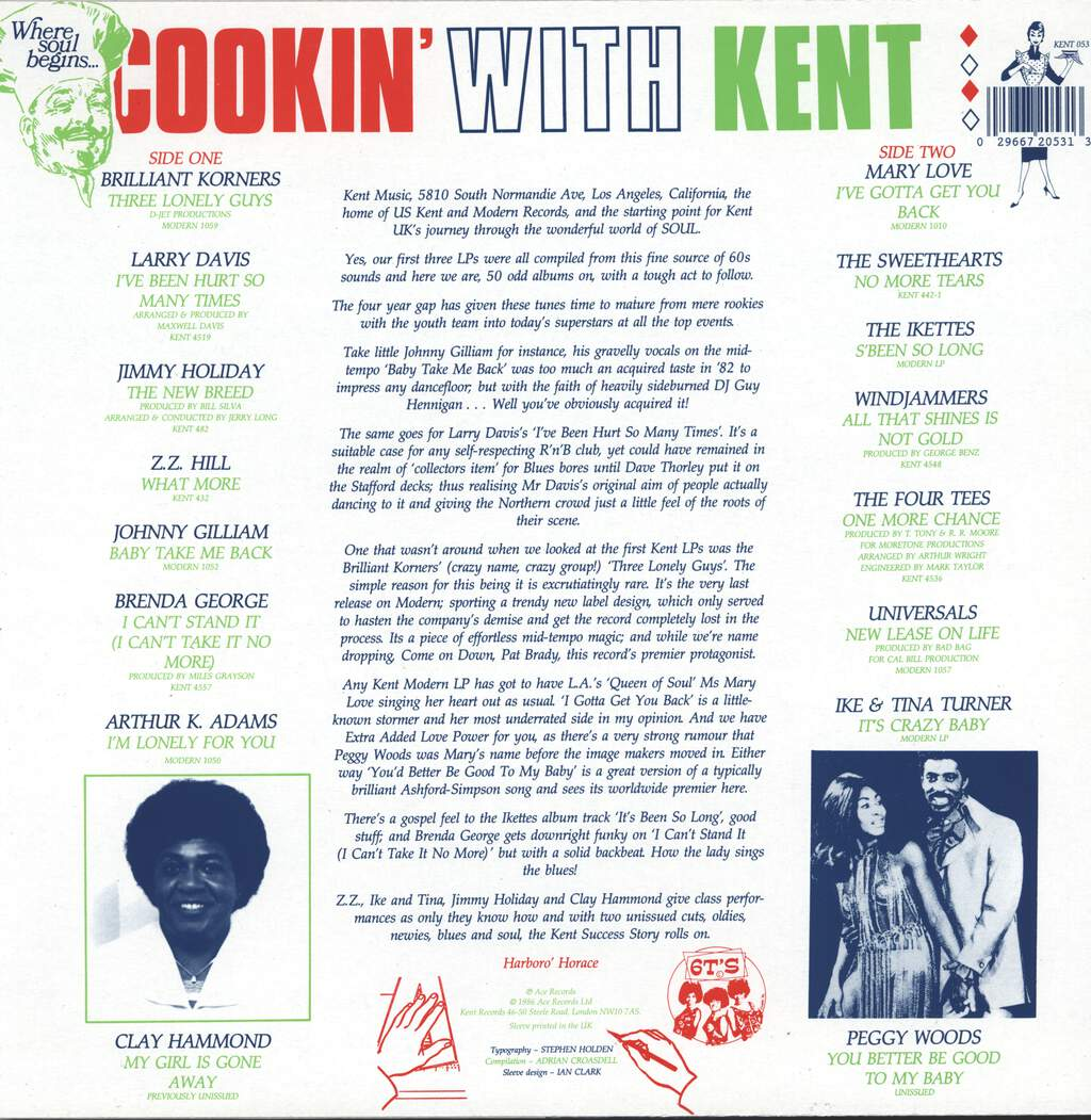 Various: Cookin' With Kent, LP (Vinyl)