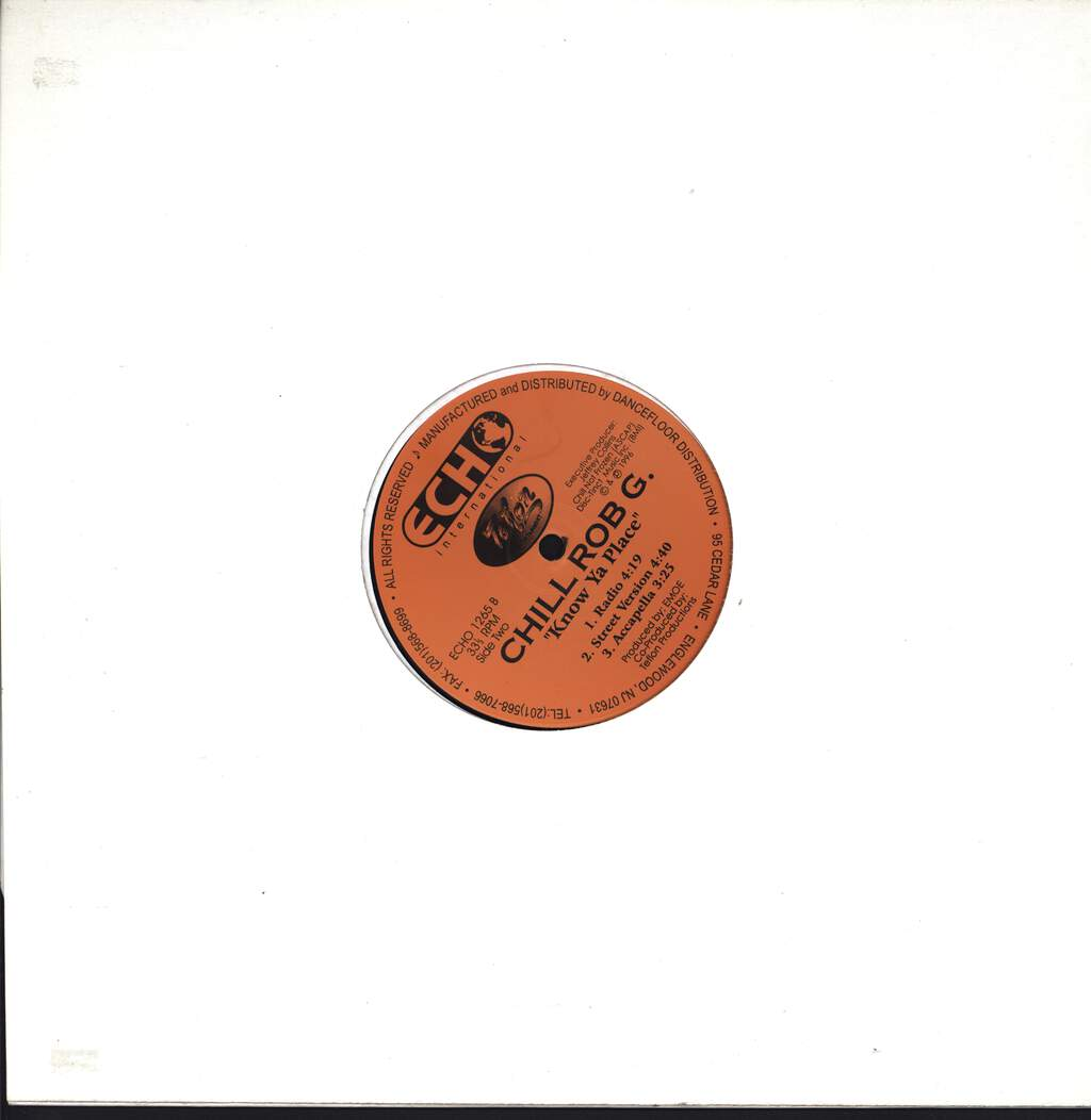 "Chill Rob G: Let Me Know Something, 12"" Maxi Single (Vinyl)"