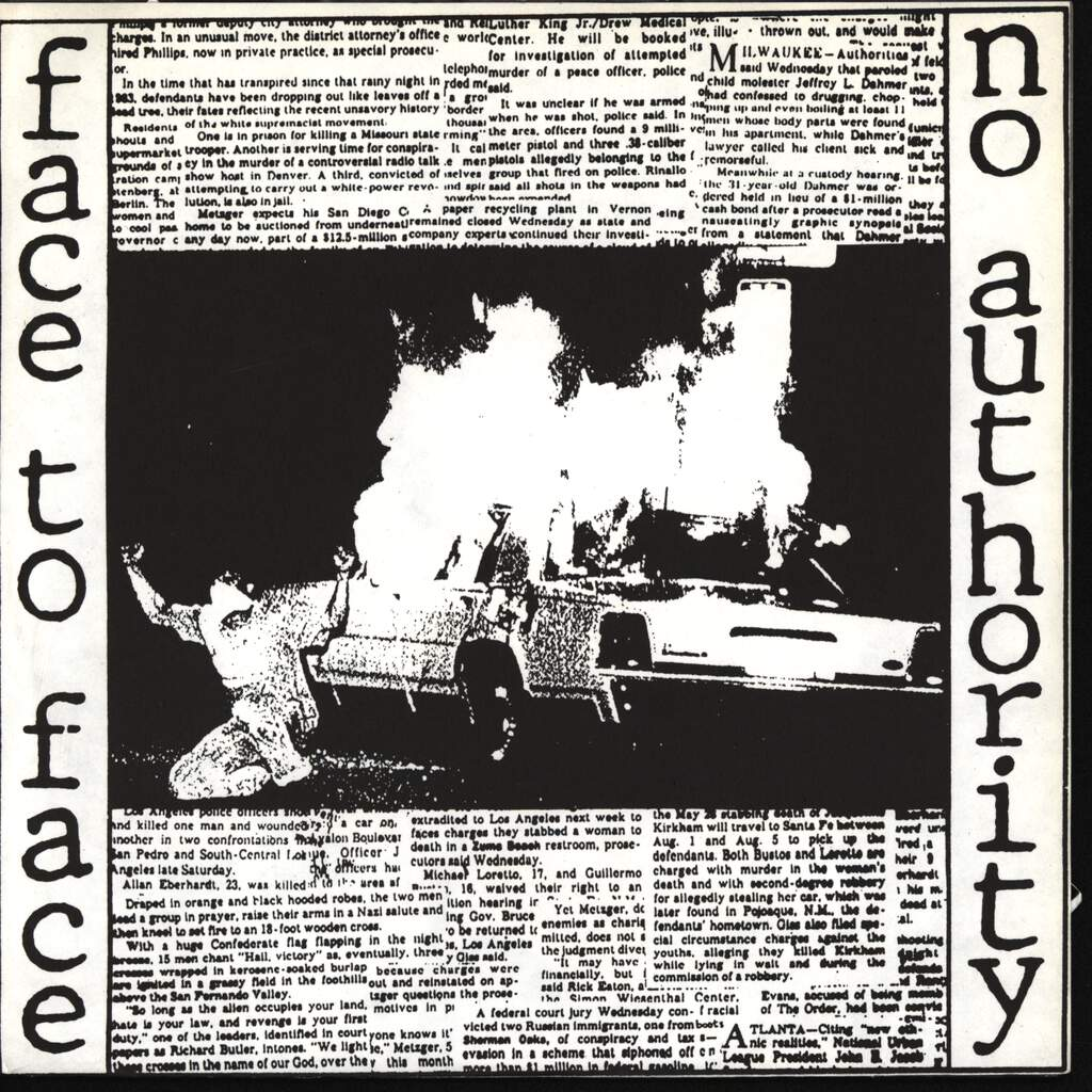 "Face To Face: No Authority, 7"" Single (Vinyl)"