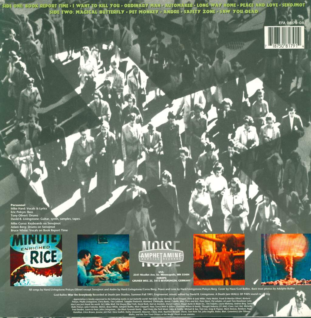 God Bullies: War On Everybody, LP (Vinyl)