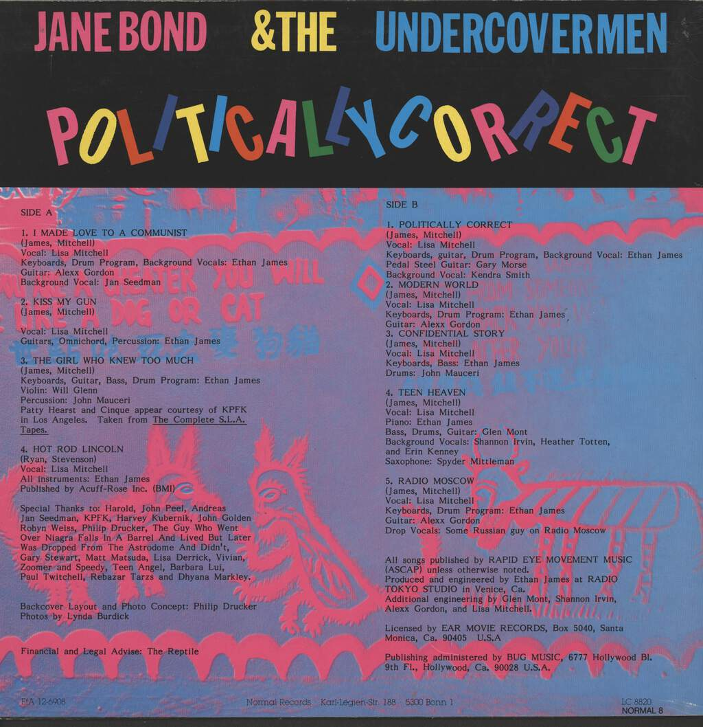 Jane Bond & The Undercovermen: Politically Correct, LP (Vinyl)
