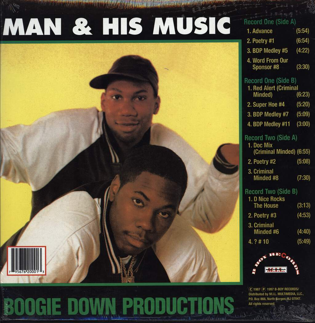 Boogie Down Productions: Man & His Music, LP (Vinyl)