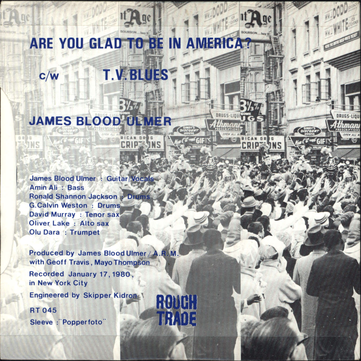 "James Blood Ulmer: Are You Glad To Be In America?, 7"" Single (Vinyl)"