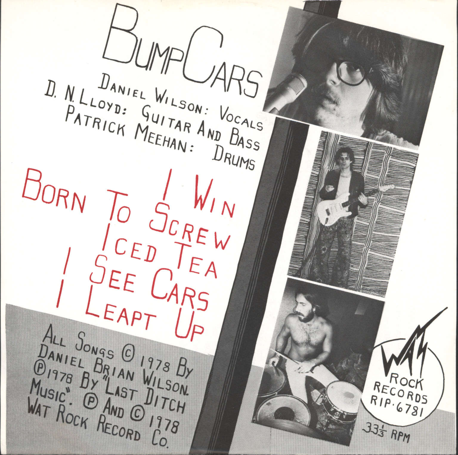 "Bump Cars: I Win, 7"" Single (Vinyl)"