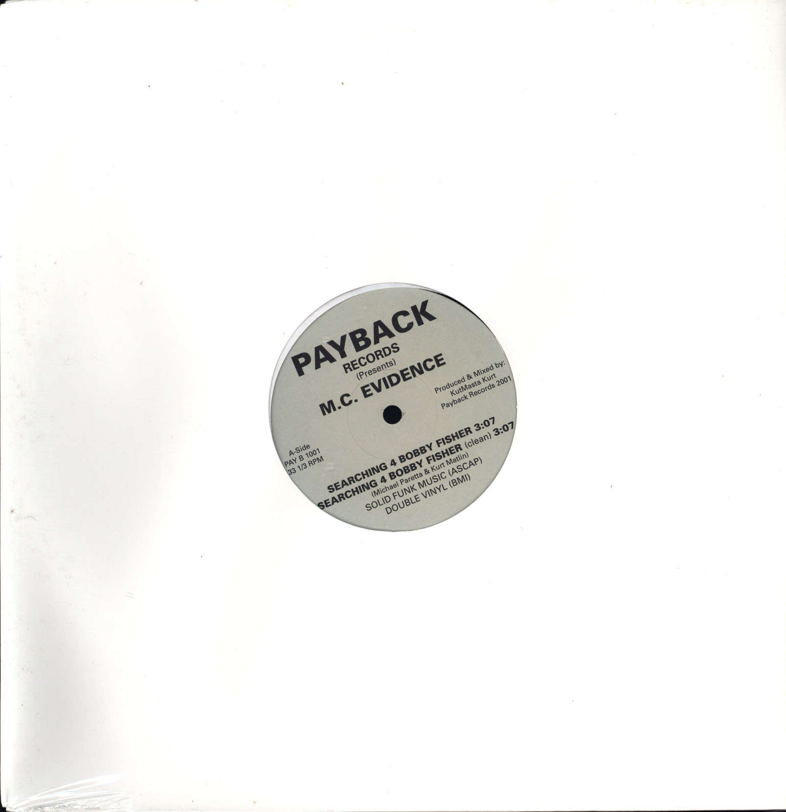 "Evidence: Searching 4 Bobby Fisher, 12"" Maxi Single (Vinyl)"