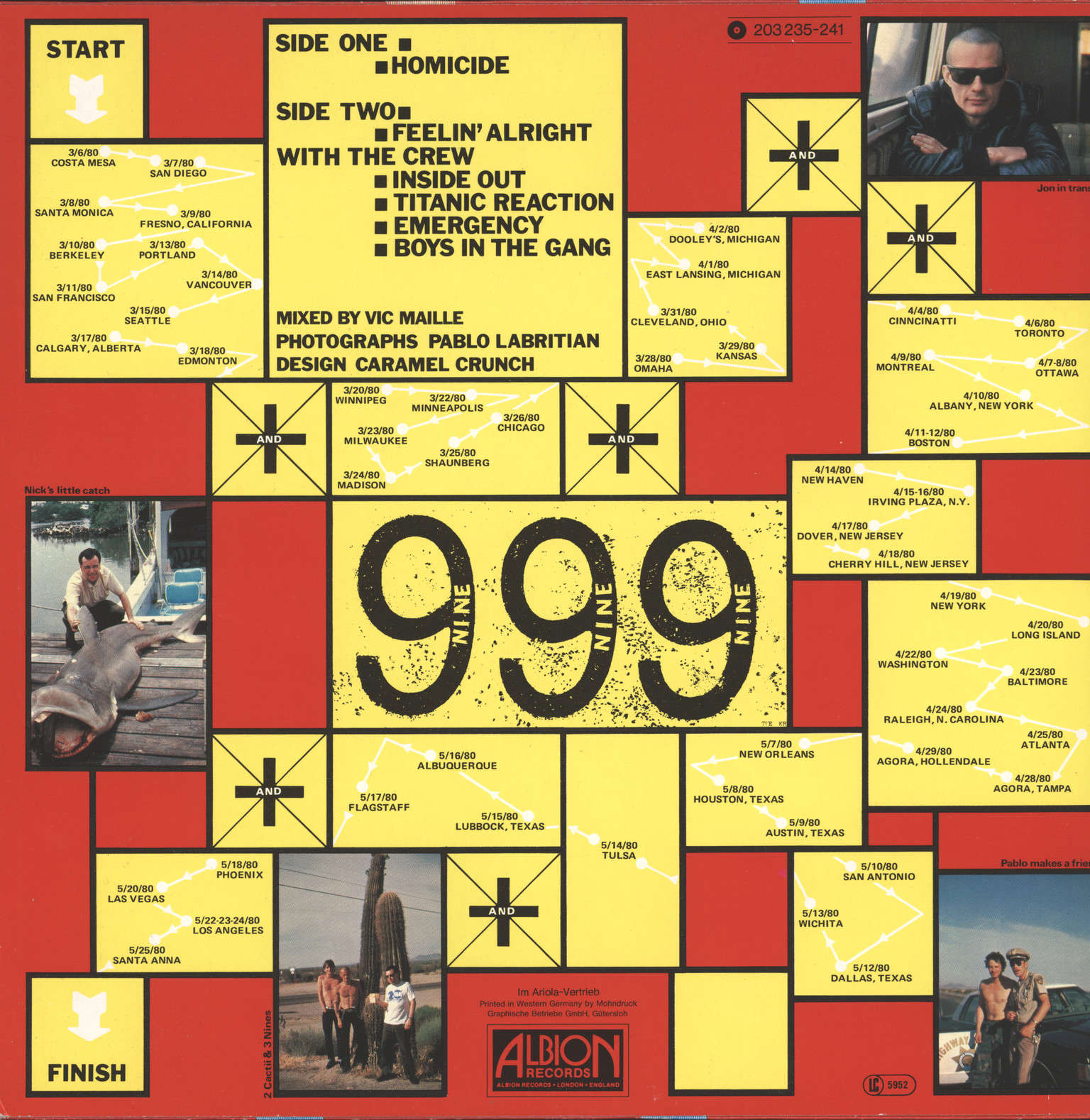 999: The Biggest Tour In Sport, LP (Vinyl)