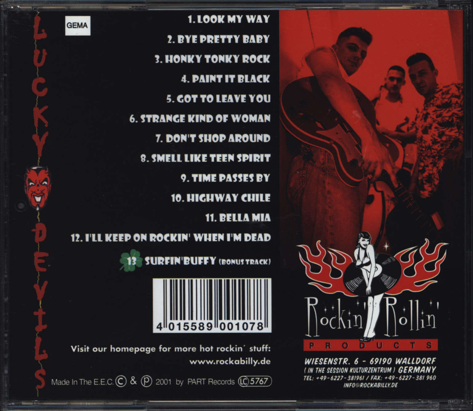Lucky Devils: Time Passes By..., CD