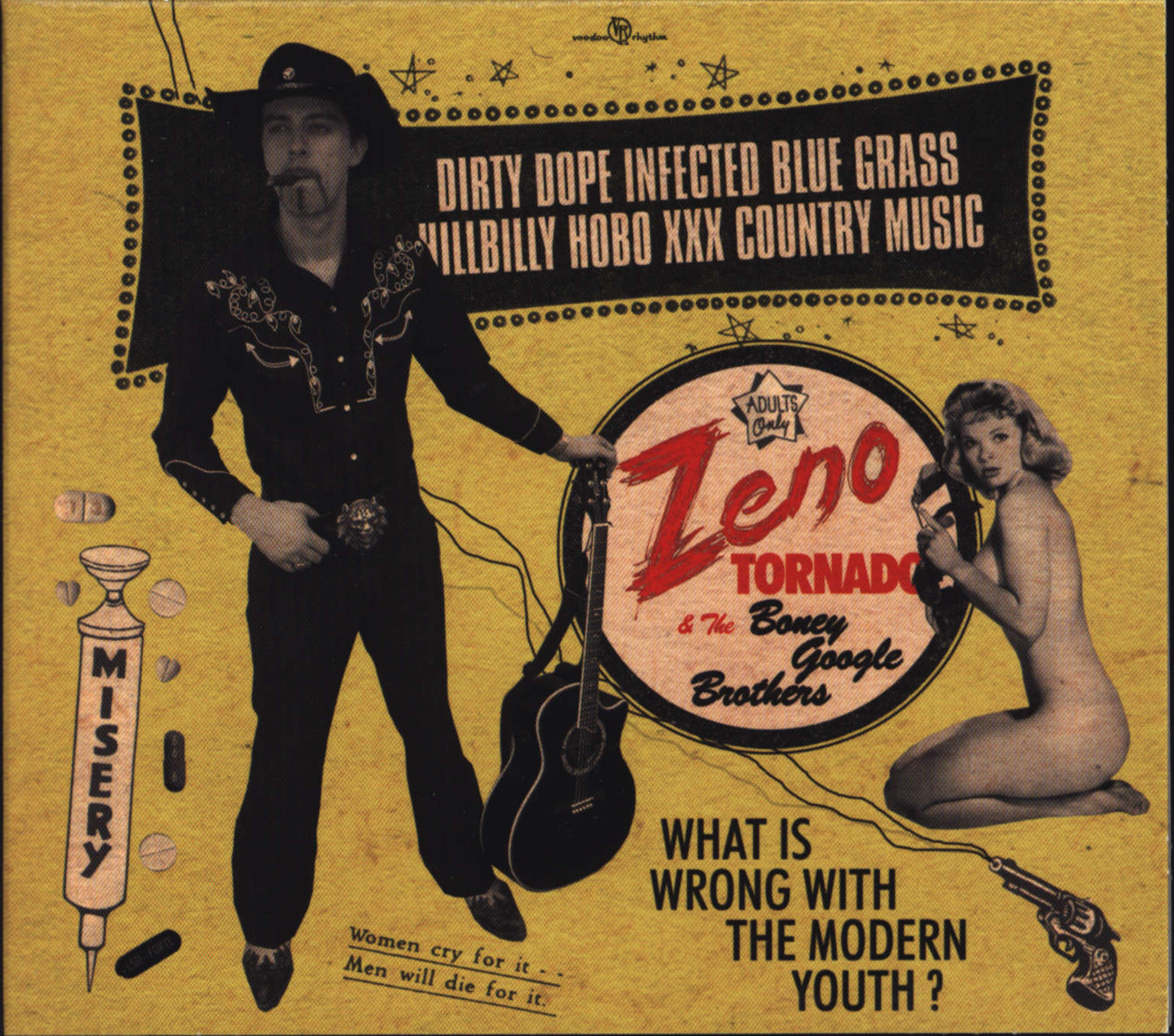 Zeno Tornado and the Boney Google Brothers: Dirty Dope Infected Blue Grass Hillbilly Hobo XXX Country Music, CD