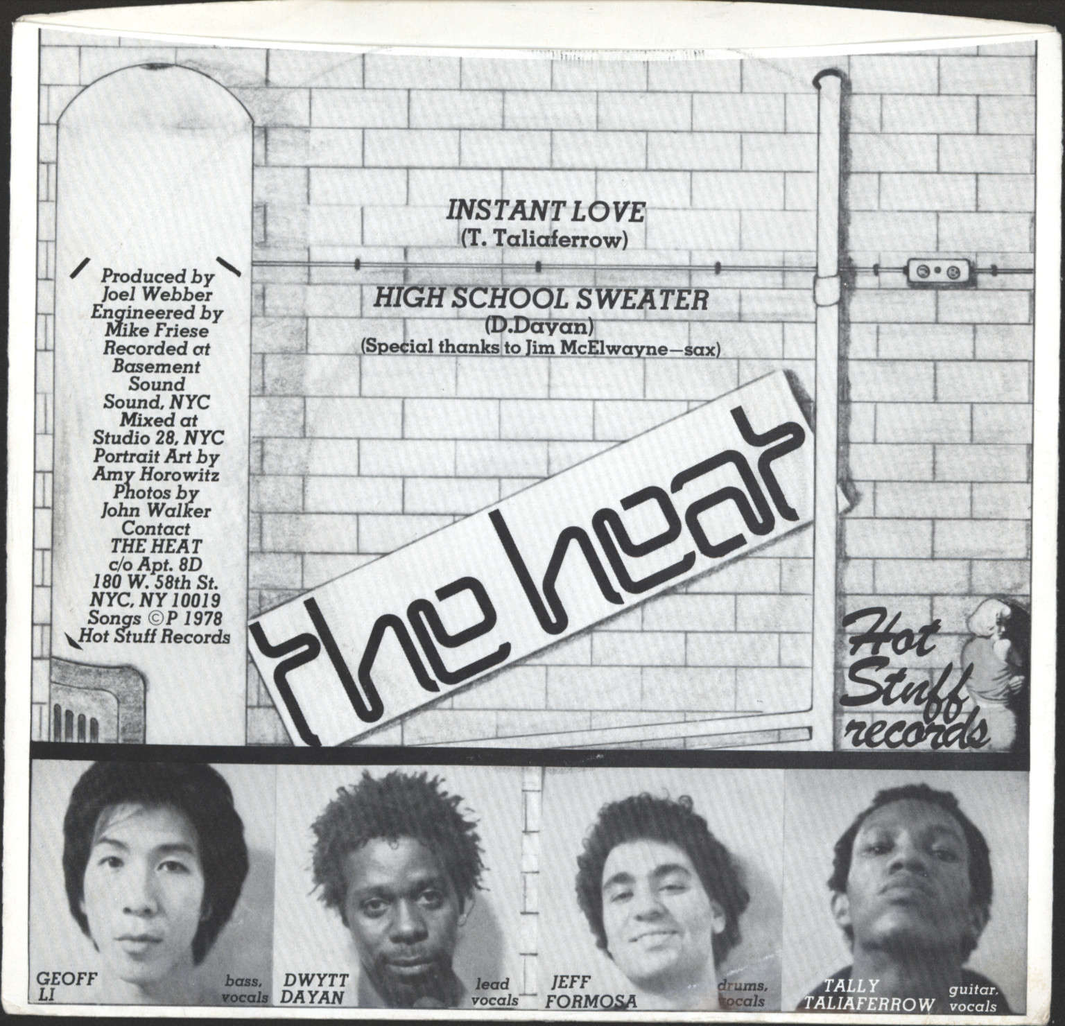 "Heat (NY): Instant Love / Highschool Sweater, 7"" Single (Vinyl)"