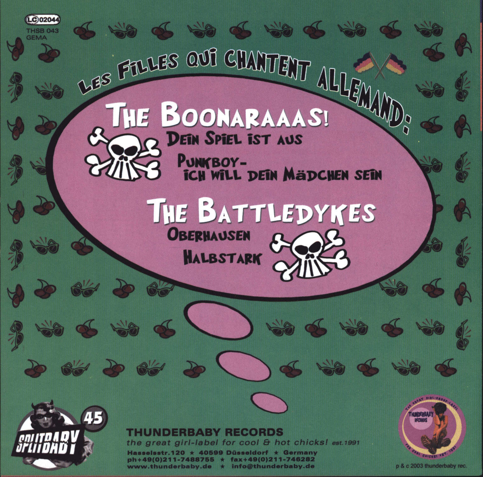 "Boonaraaas: Splitbaby 45 Volume Three - Les Filles Qui Chantent Allemand, 7"" Single (Vinyl)"