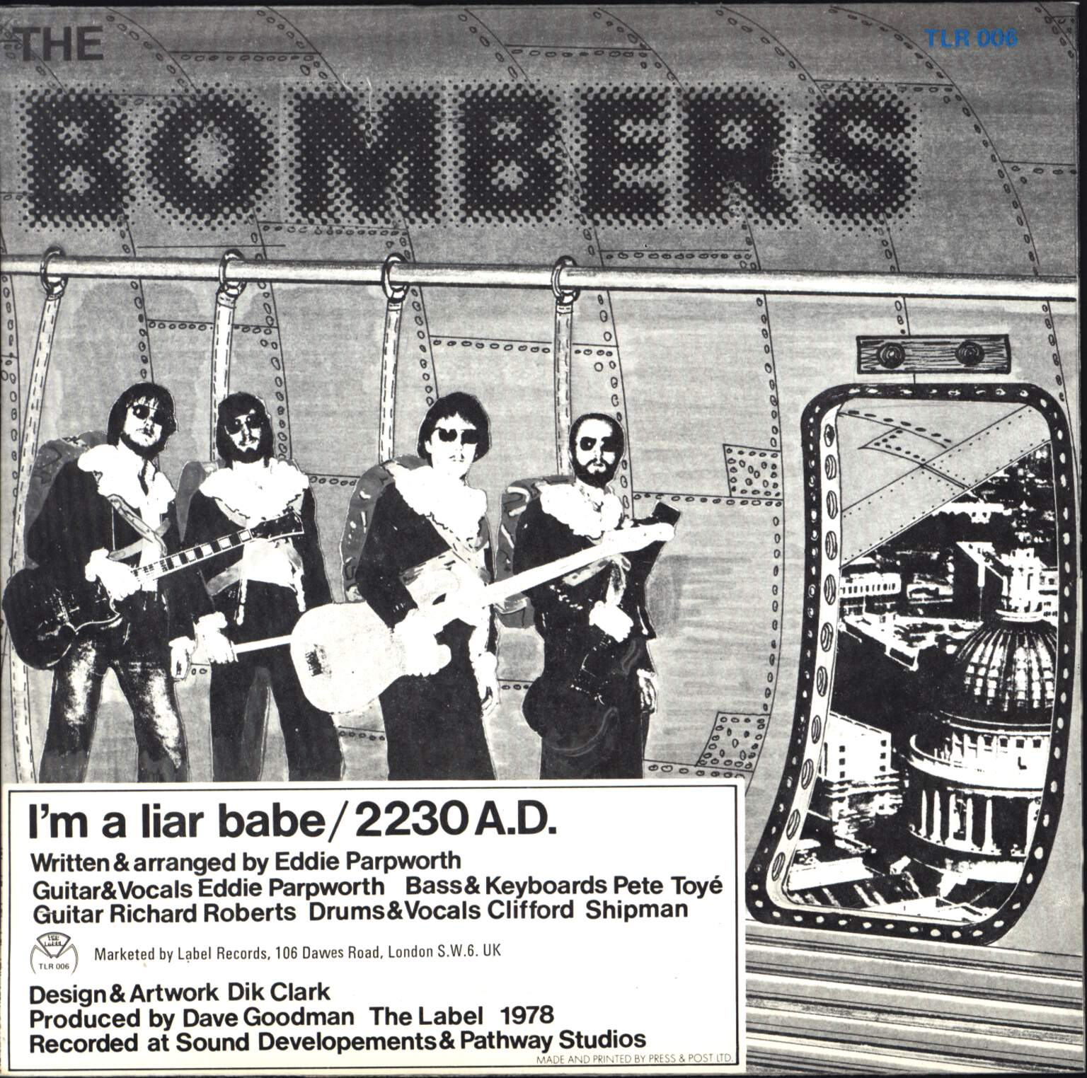 "The Bombers: I'm A Liar Babe / 2230 A.D., 7"" Single (Vinyl)"