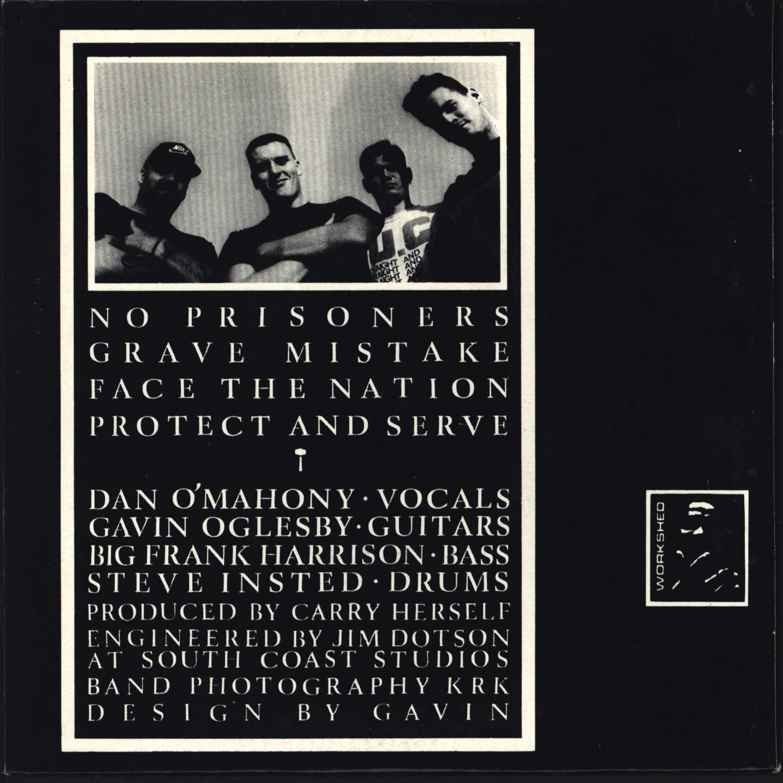"Carry Nation: Face The Nation 1985 • 1989, 7"" Single (Vinyl)"