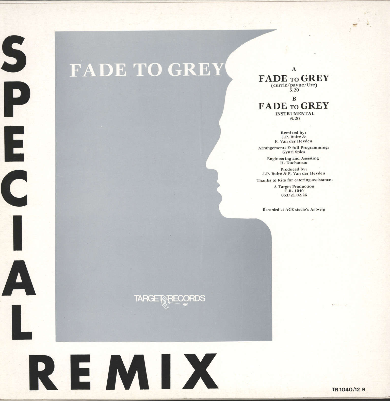 "Neon (Bel): Fade To Grey (Special Remix), 12"" Maxi Single (Vinyl)"