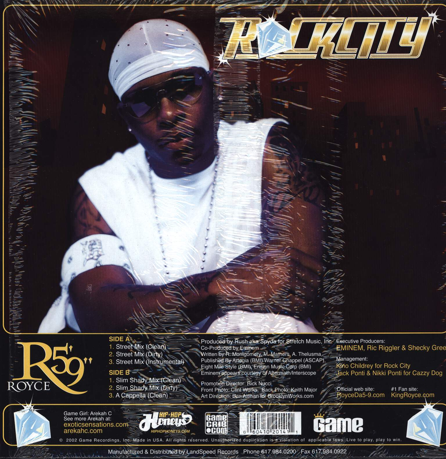 "Royce Da 5'9 "": Rock City, 12"" Maxi Single (Vinyl)"