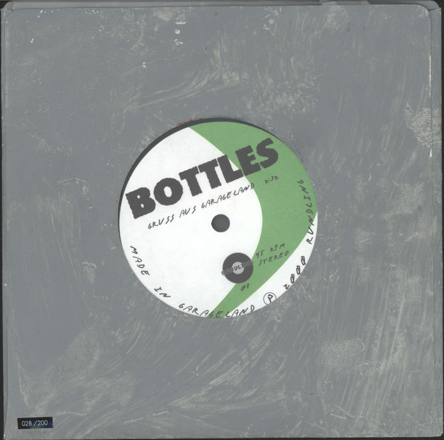 "Bottles: Gruss Aus Garagenland, 7"" Single (Vinyl)"
