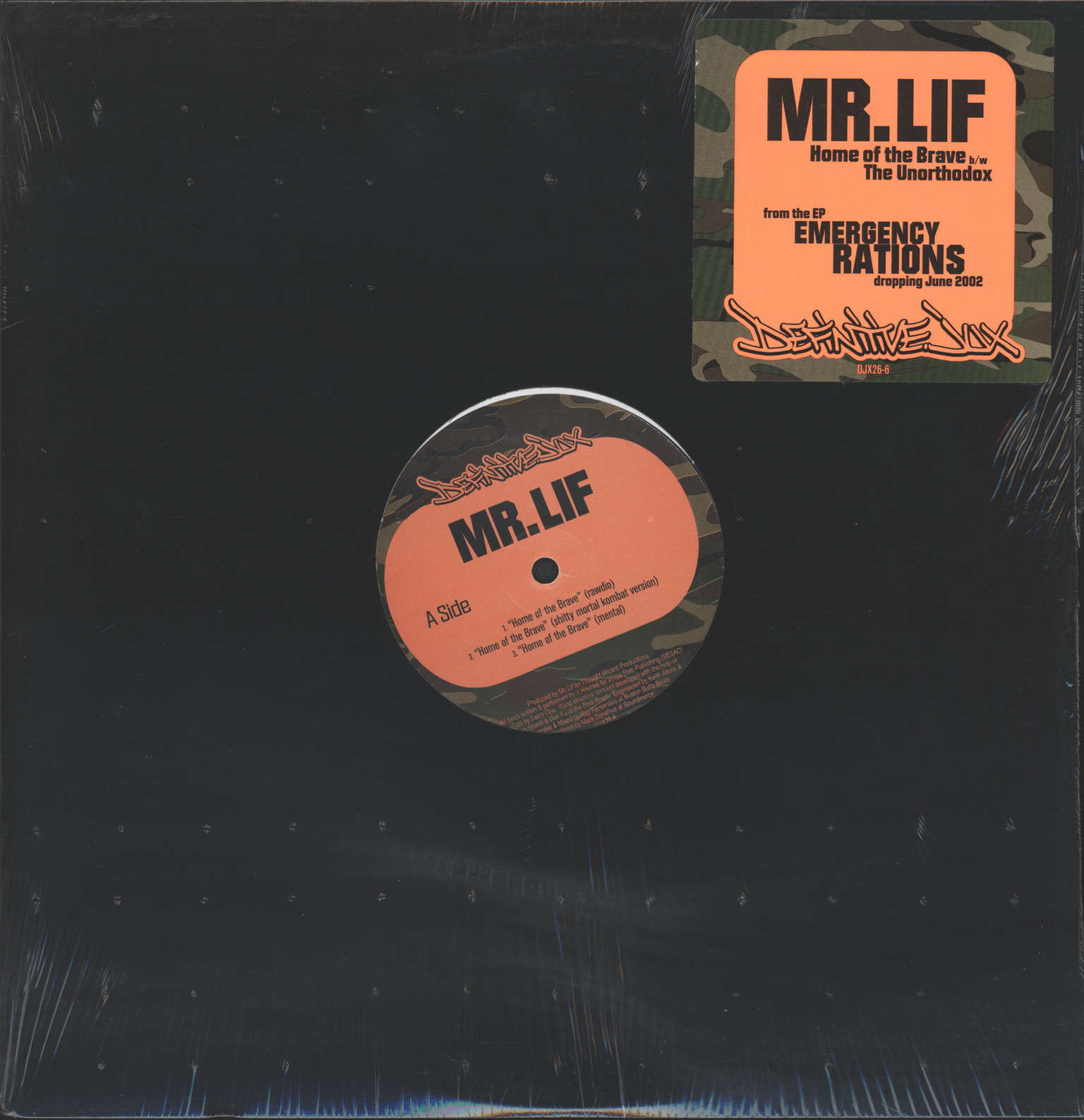 "Mr Lif: Home Of The Brave / The Unorthodox, 12"" Maxi Single (Vinyl)"
