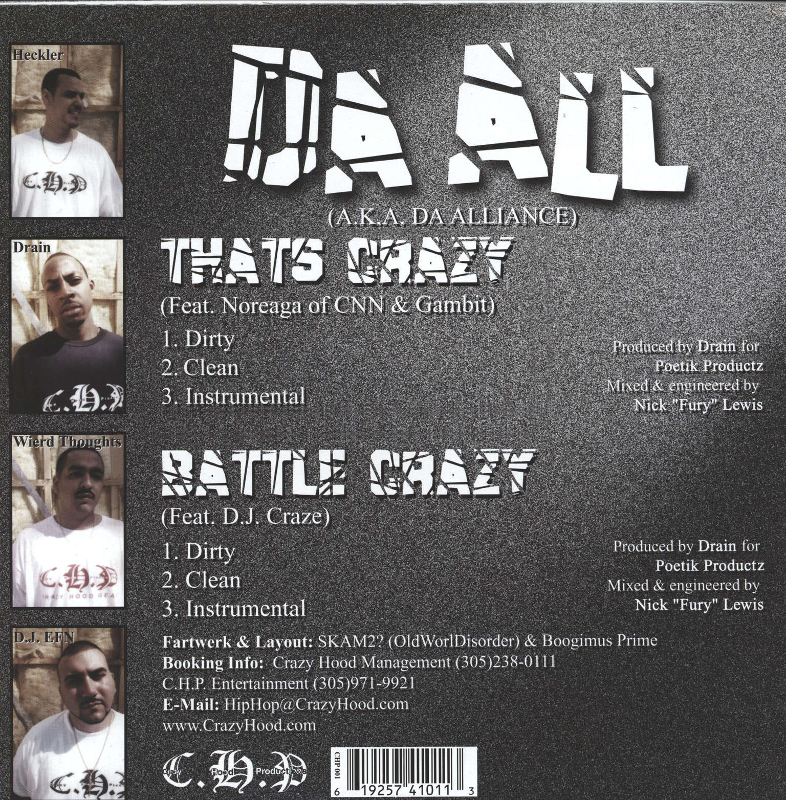 "Da All (Da Alliance): That's Crazy / Battle Crazy, 12"" Maxi Single (Vinyl)"