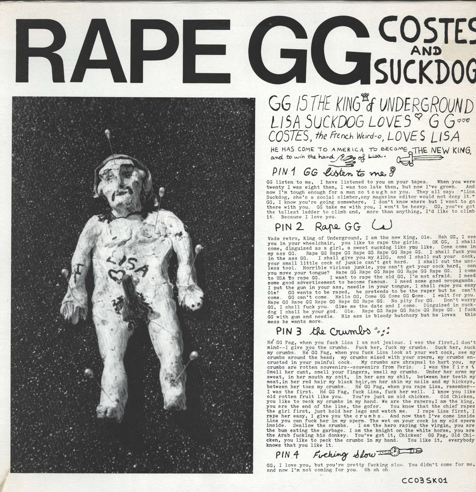 Costes: Rape GG, LP (Vinyl)