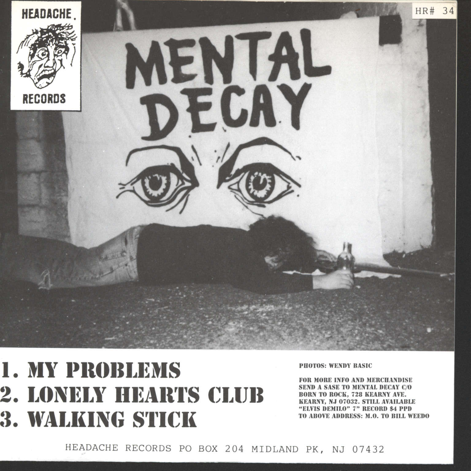"Mental Decay: Walking Stick, 7"" Single (Vinyl)"