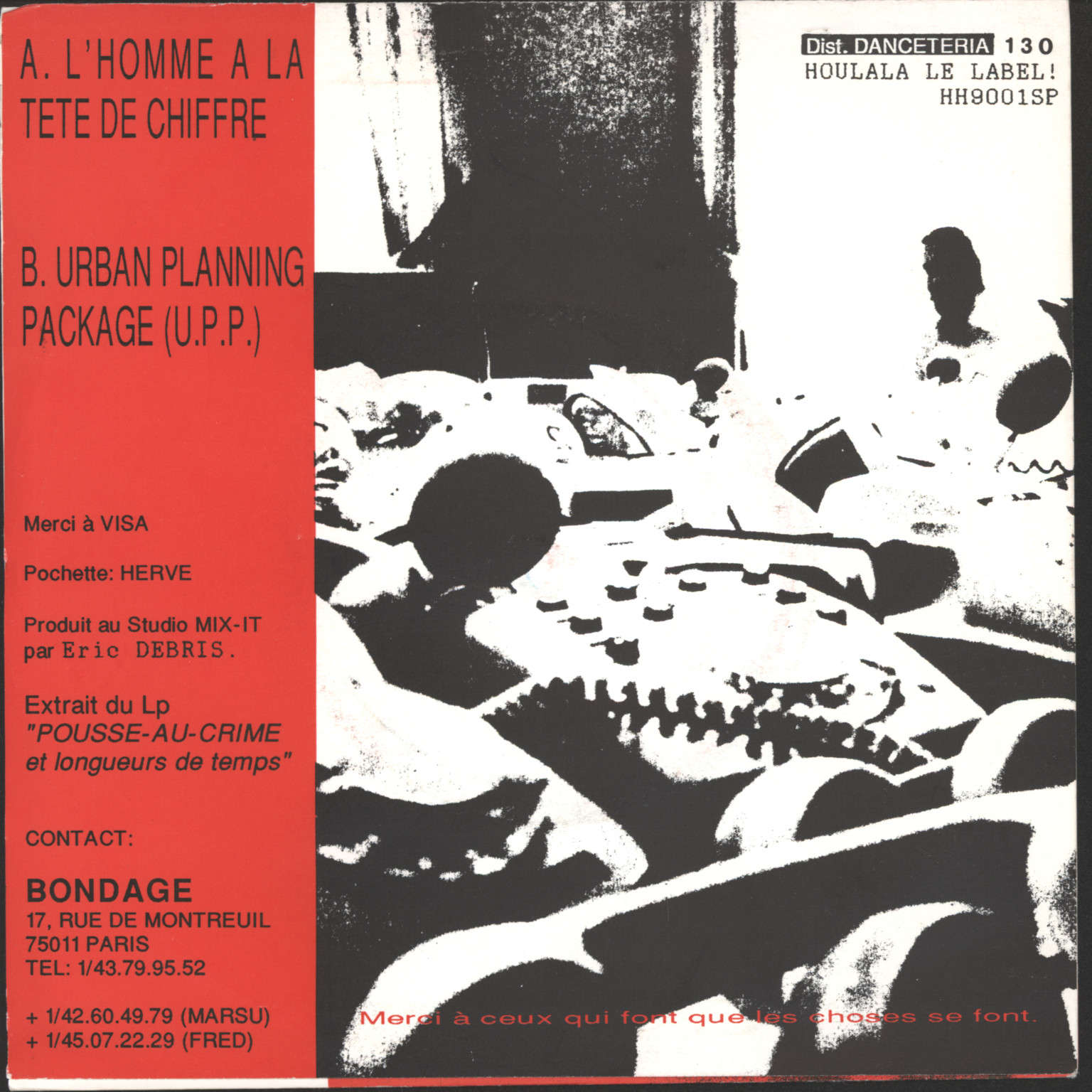 "Dirty District: L'homme A La Tête de Chiffre / Urban Planning Package (U.P.P.), 7"" Single (Vinyl)"