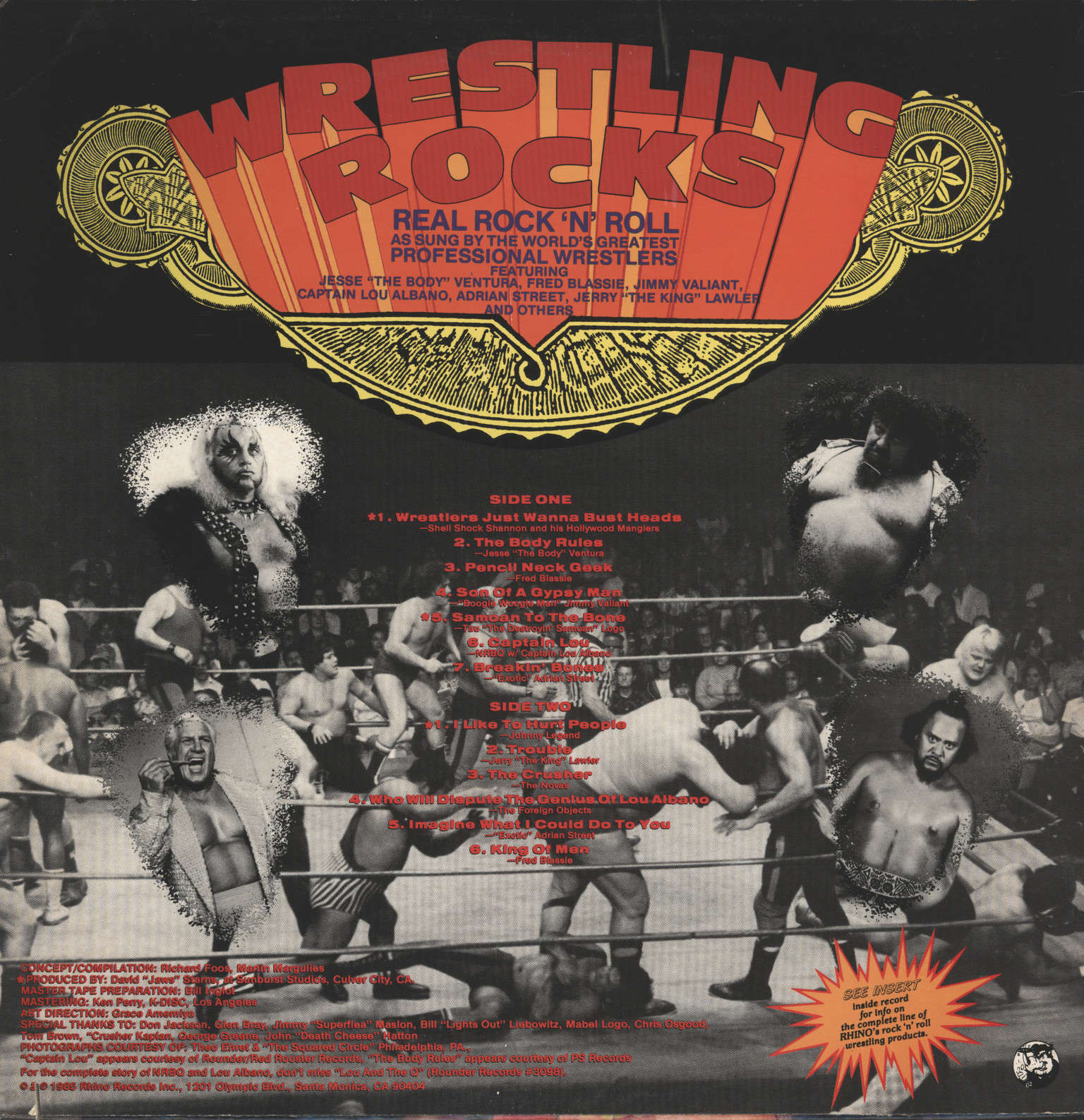 Various: Wrestling Rocks, LP (Vinyl)