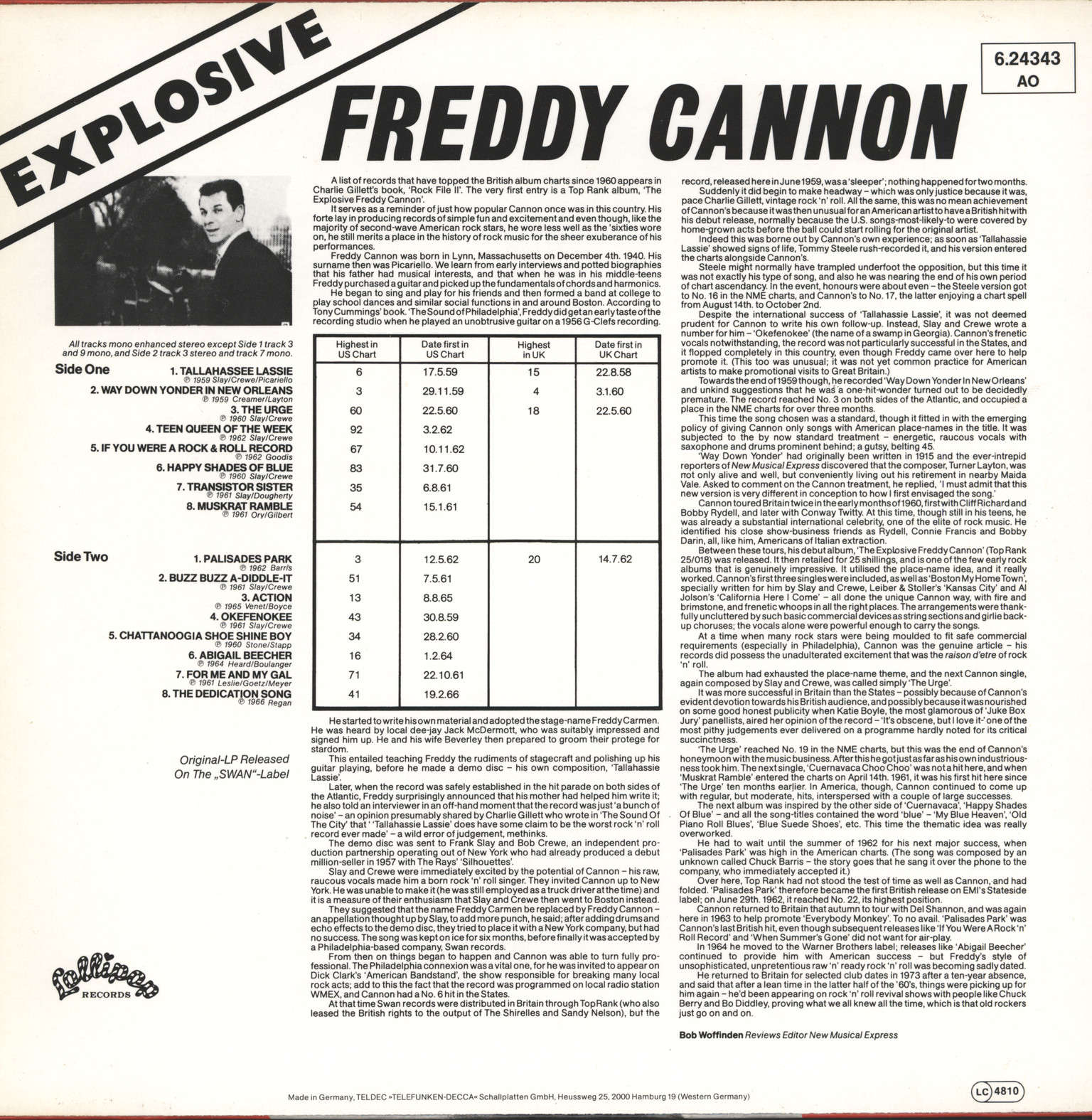 Freddy Cannon: The Explosive Freddy Cannon, LP (Vinyl)