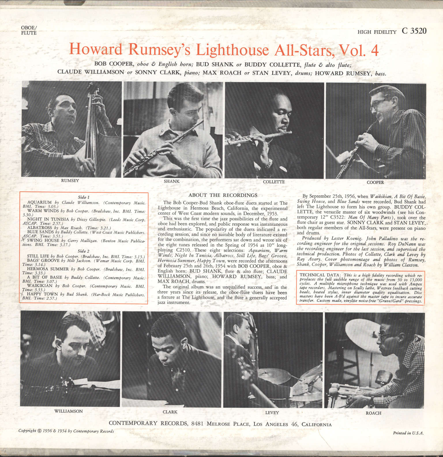 Rumsey's Lighthouse all-Stars, Howard: Volume 4: Oboe/Flute, LP (Vinyl)