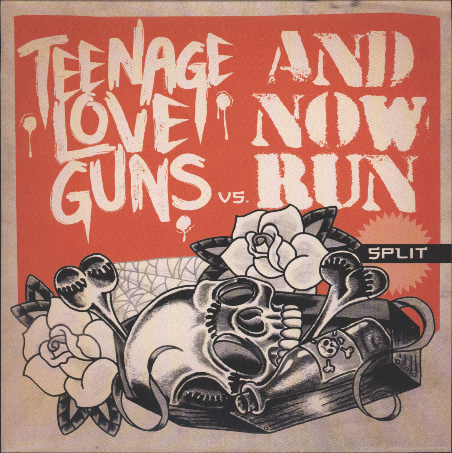 "Teenage Love Guns: Teenage Love Guns Vs. And Now Run Split, 7"" Single (Vinyl)"