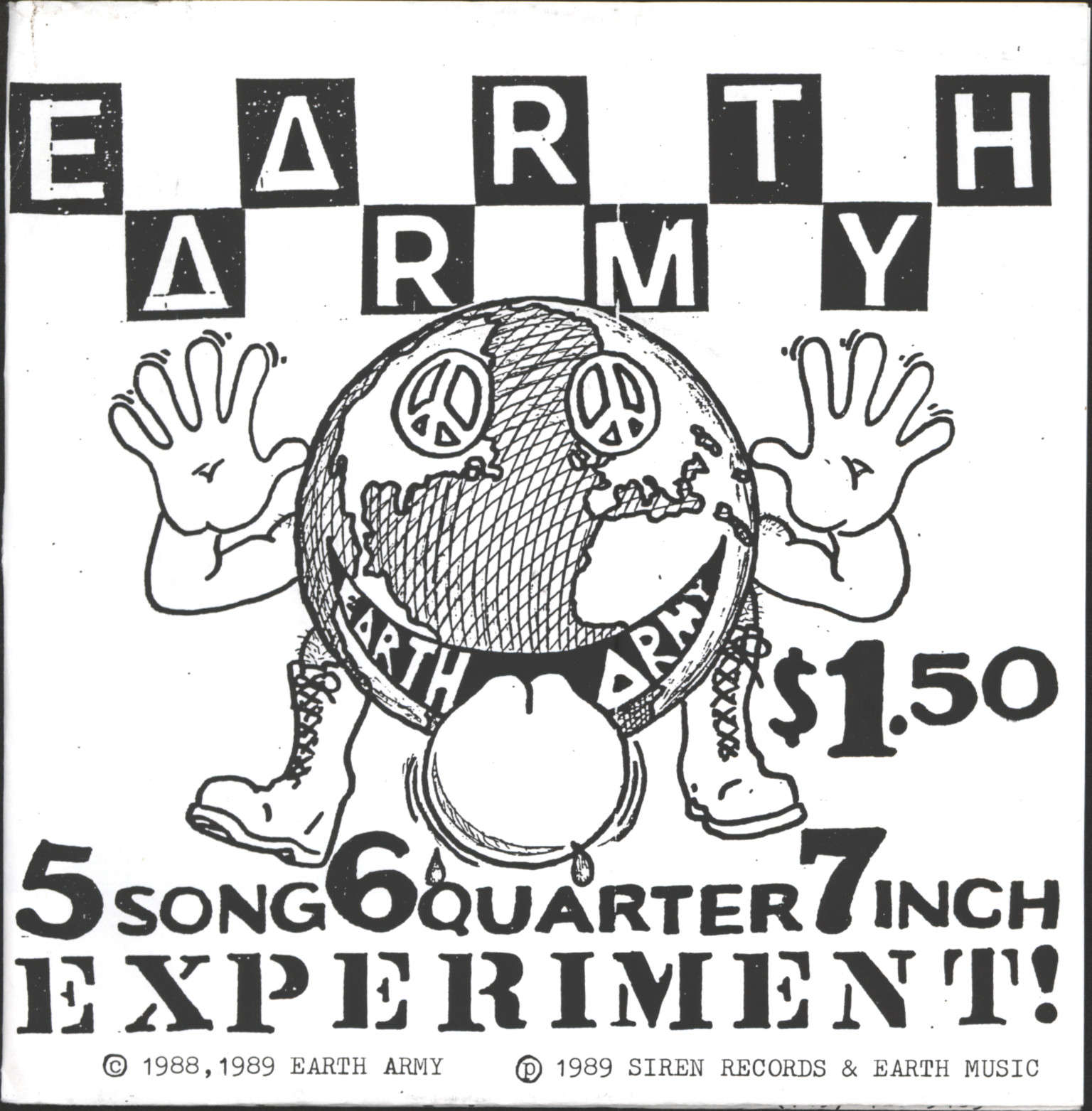 "Earth Army: 5 Song 6 Quarter 7 Inch Experiment, 7"" Single (Vinyl)"
