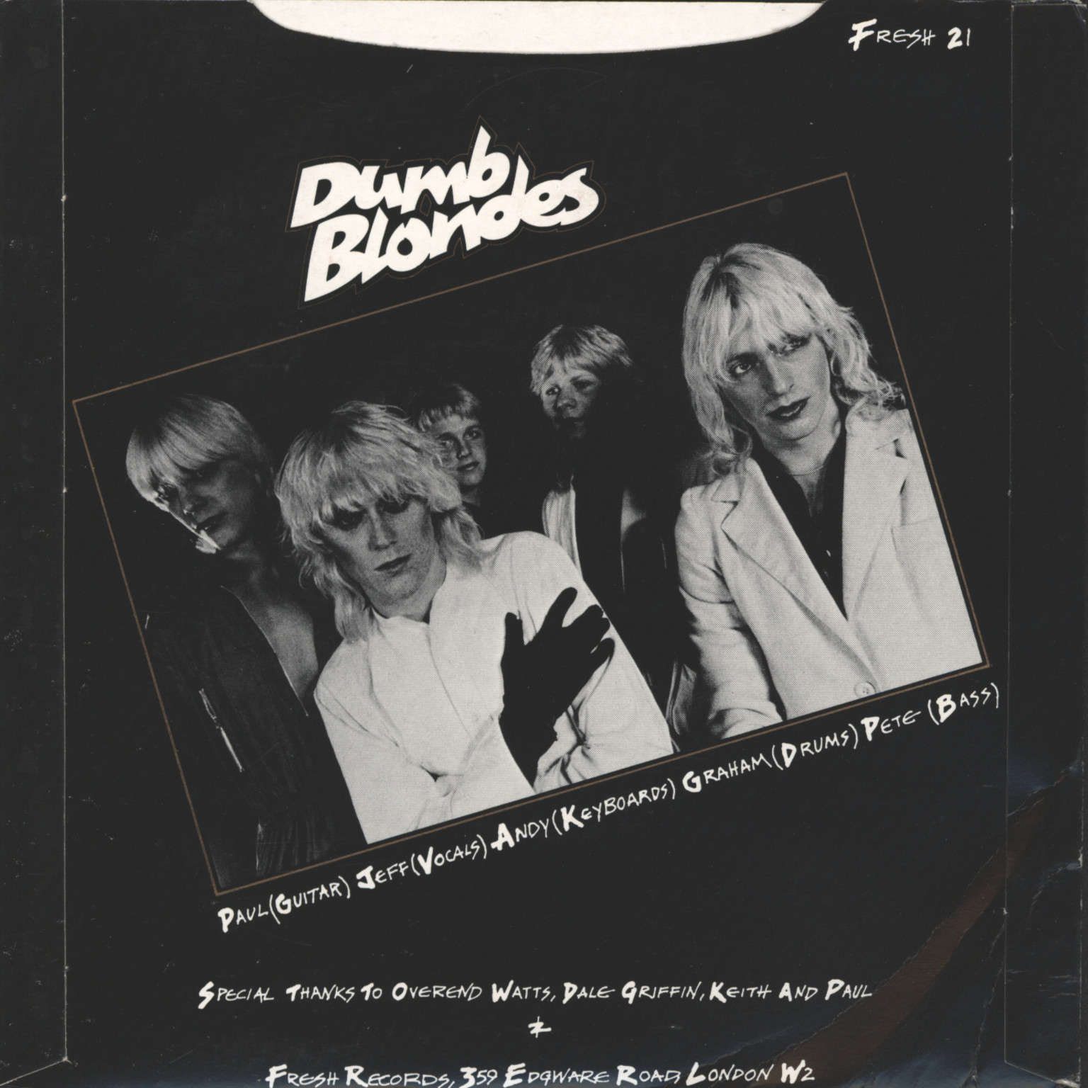 "Dumb Blondes: Strange Love / Sorrow, 7"" Single (Vinyl)"