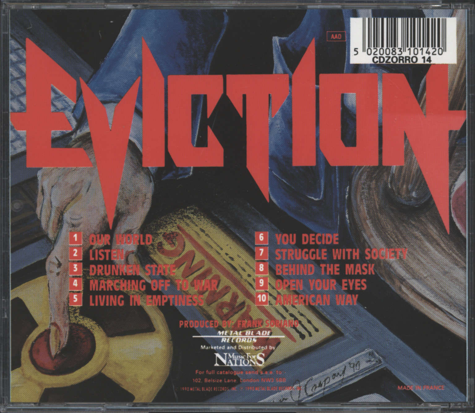 Eviction: The World Is Hours Away, CD