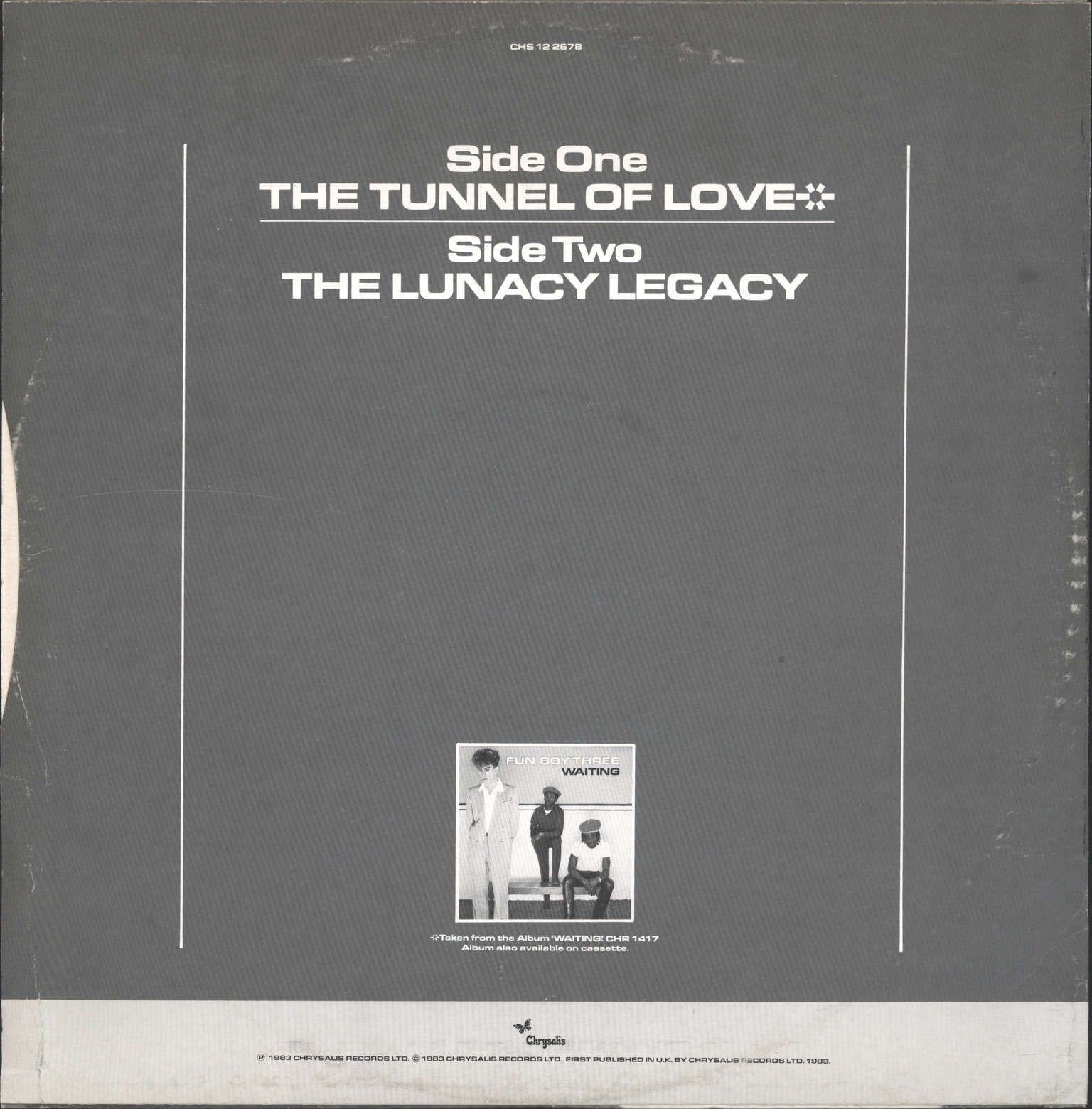 "Fun Boy Three: Tunnel of Love, 12"" Maxi Single (Vinyl)"