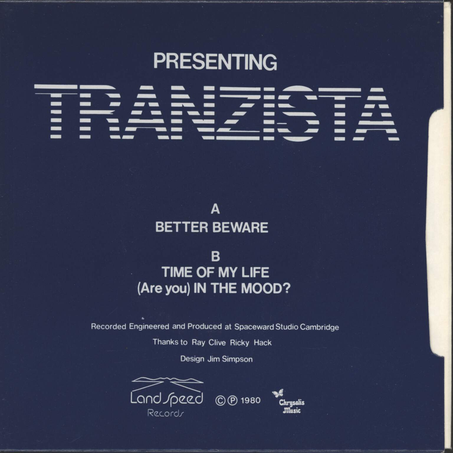"Tranzista: Better Beware, 7"" Single (Vinyl)"