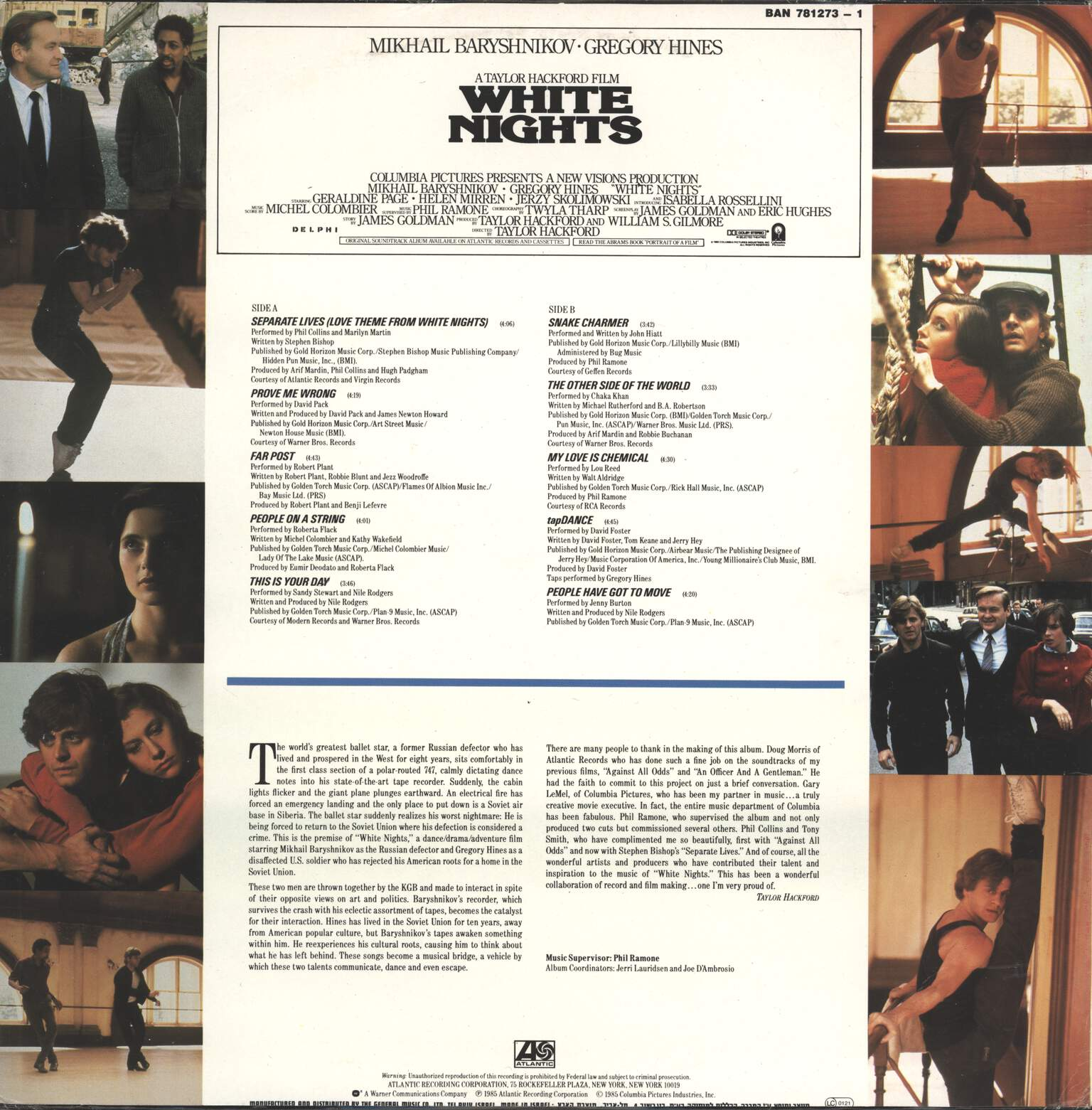 Various: White Nights: Original Motion Picture Soundtrack, LP (Vinyl)