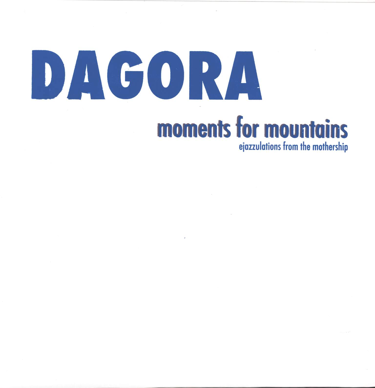 Dagora: Moments For Mountains, LP (Vinyl)