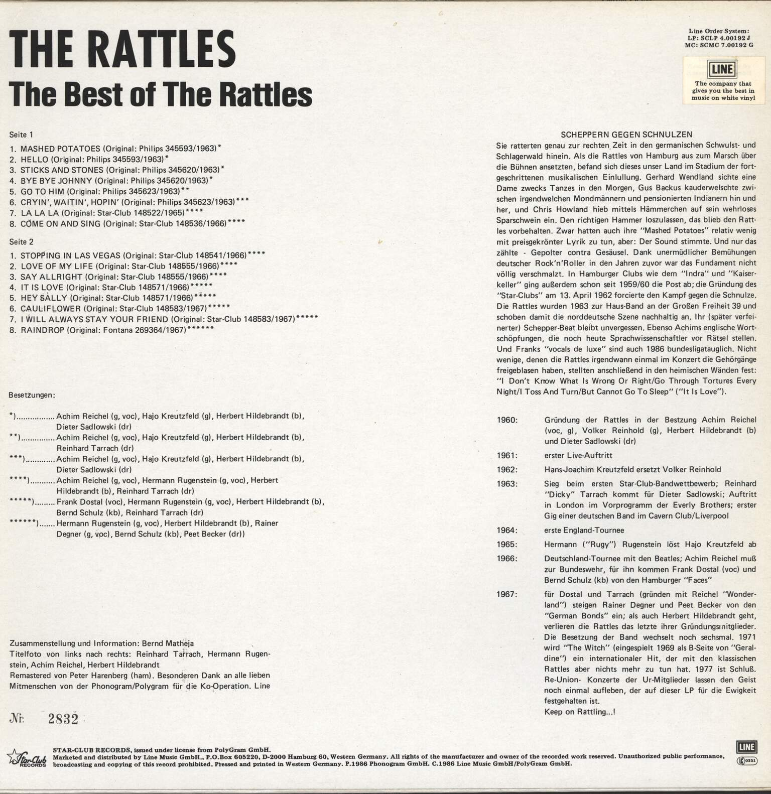 Rattles: The Best Of The Rattles (The Singles), LP (Vinyl)