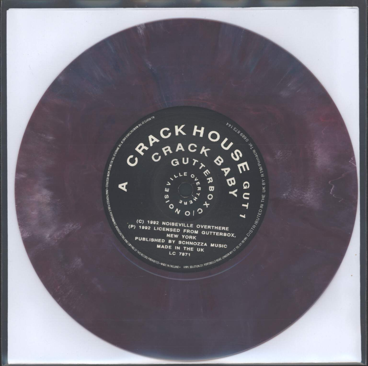 "Crackhouse: Tough Shit Crack Baby, 7"" Single (Vinyl)"