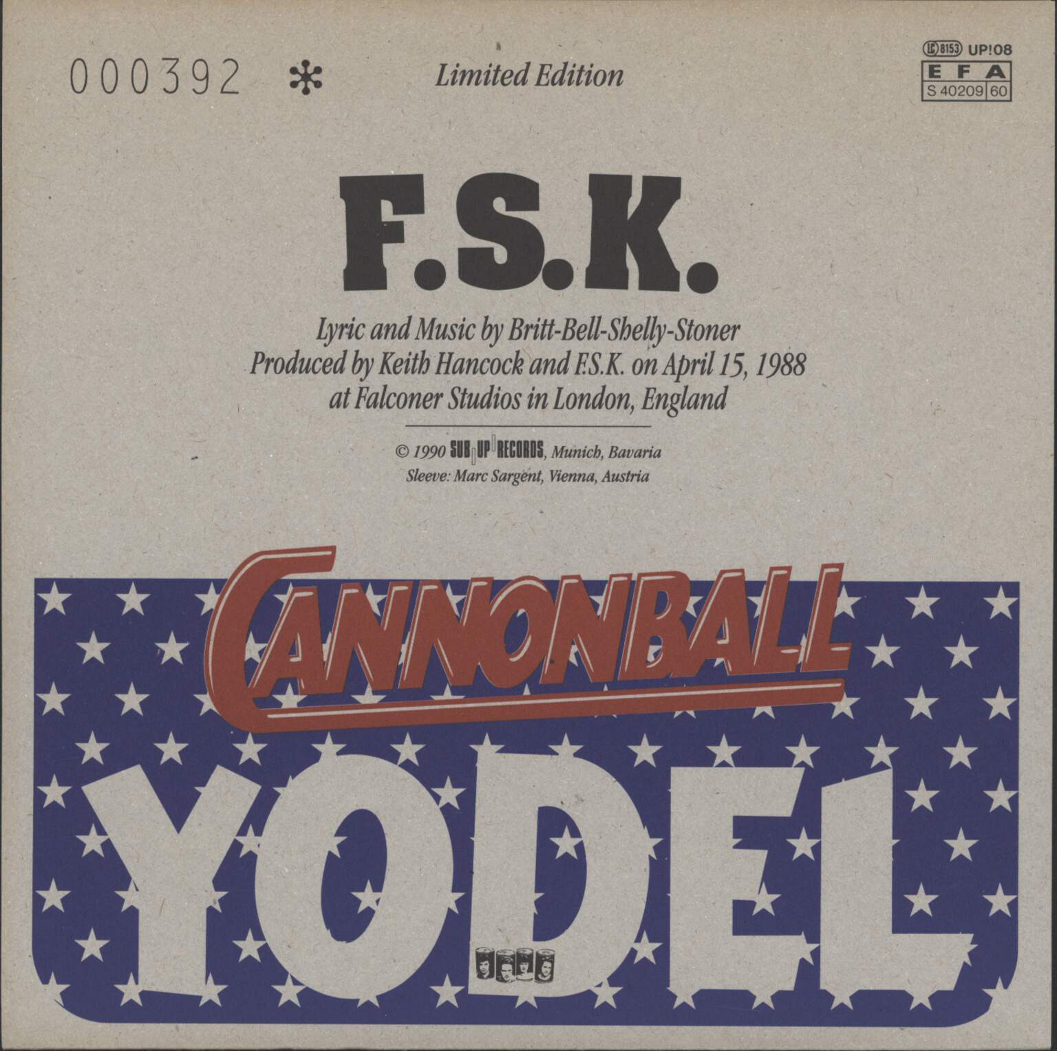 "F.S.K.: Budweiser Polka, 7"" Single (Vinyl)"