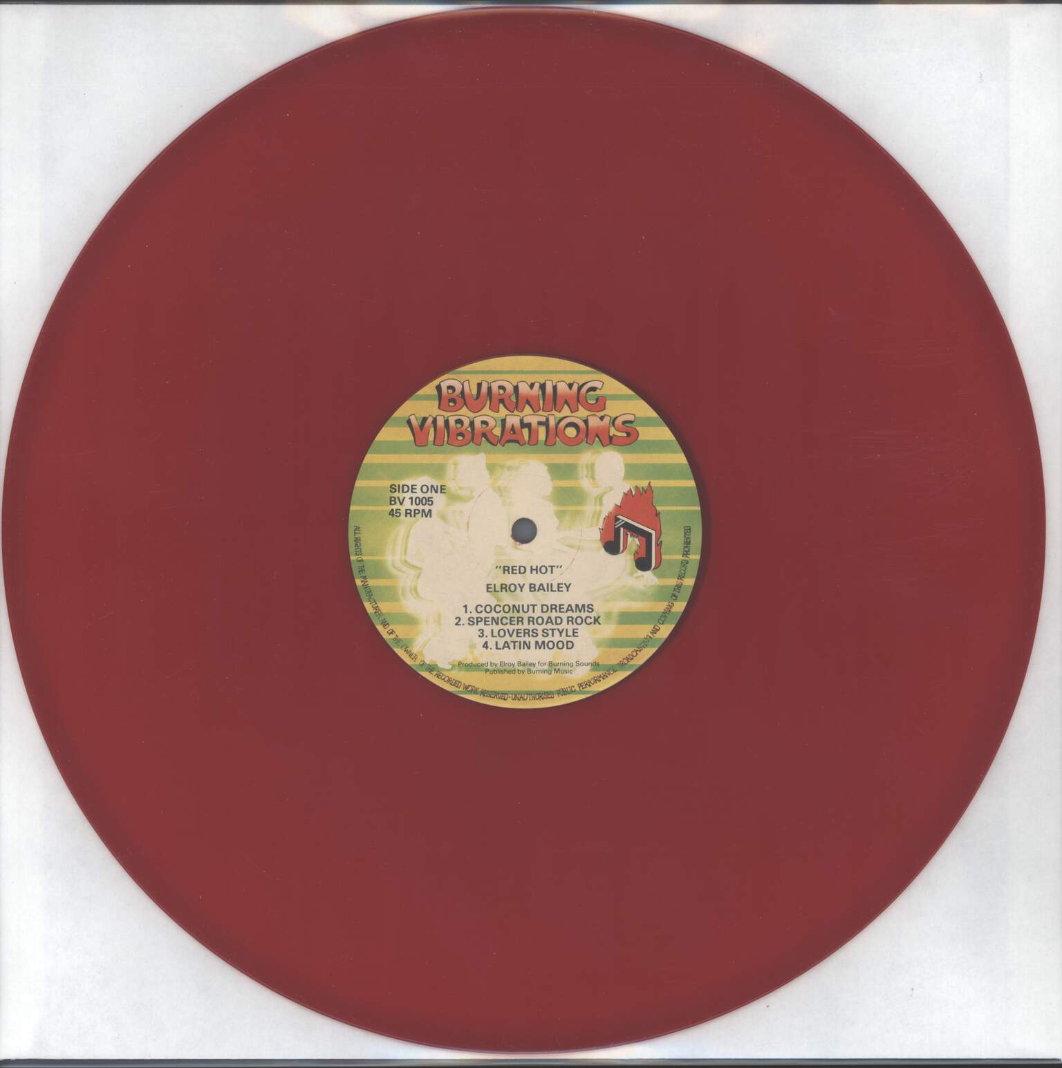 Elroy Bailey: Red Hot Dub, LP (Vinyl)