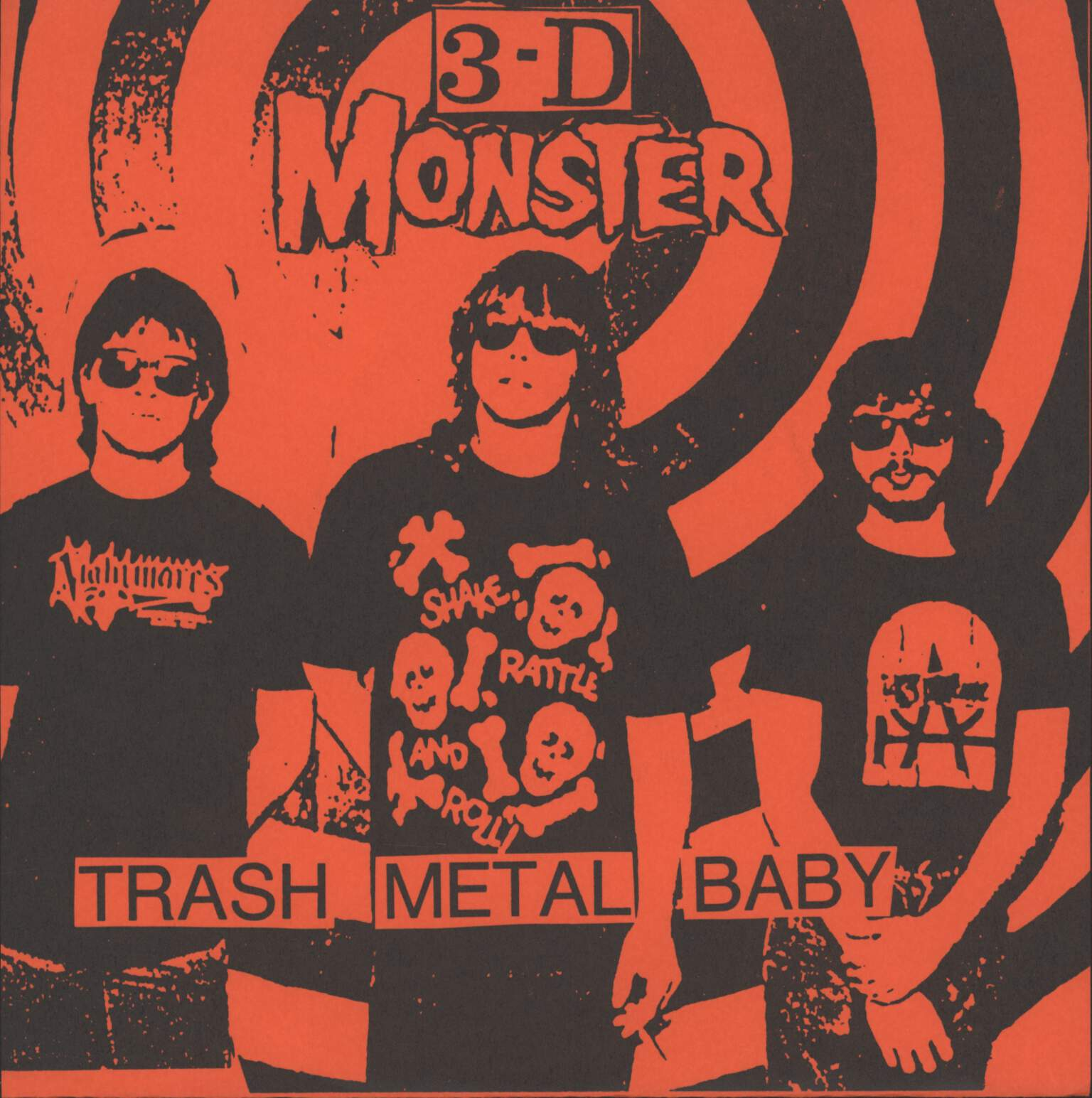 "3-D Monster: Trash Metal Baby / Thrills, 7"" Single (Vinyl)"