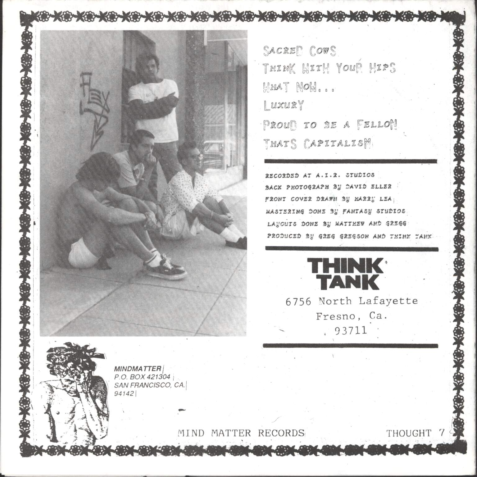"Think Tank: What Now ?, 7"" Single (Vinyl)"