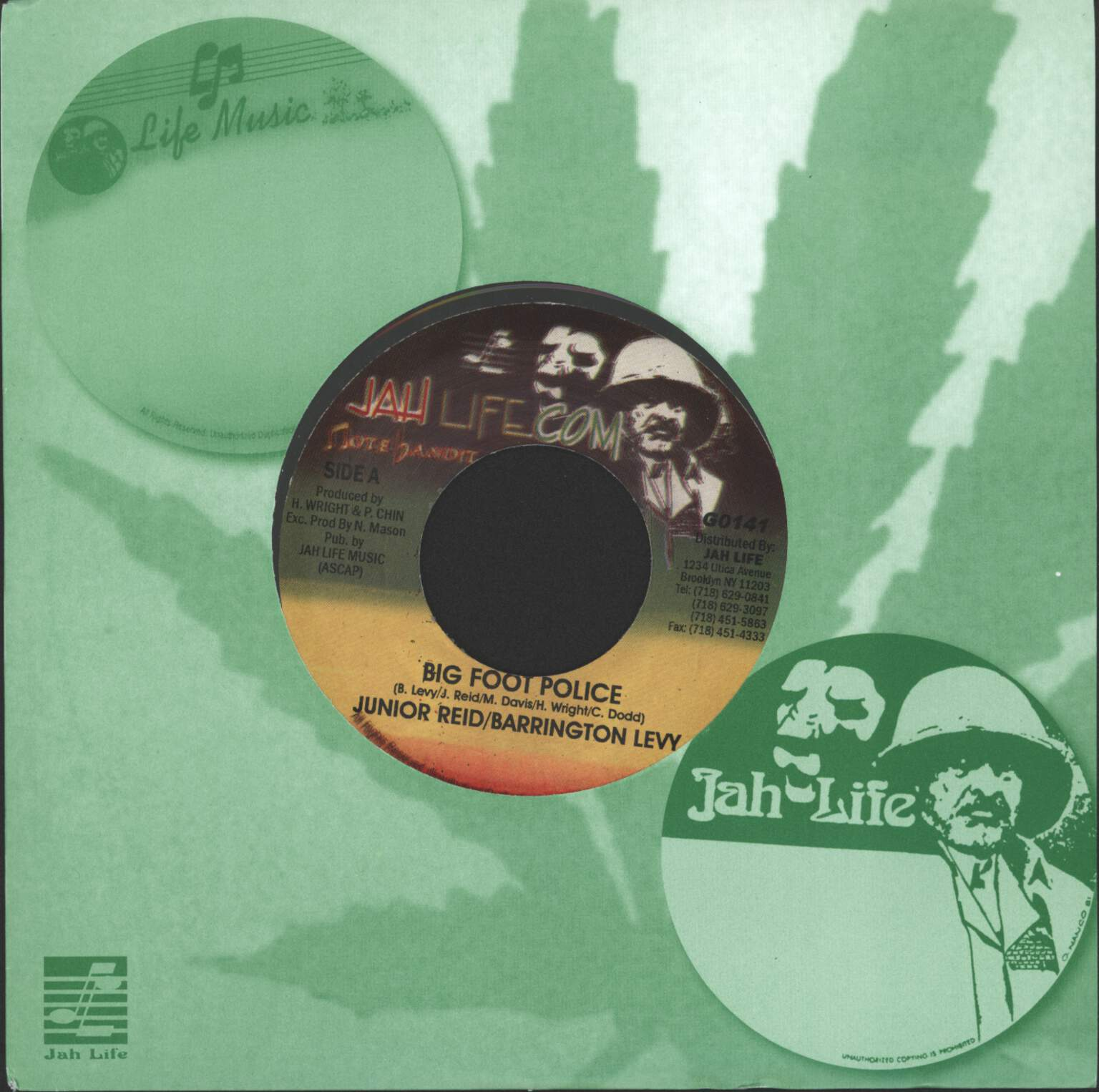 "Barrington Levy: Big Foot Police / Version, 7"" Single (Vinyl)"