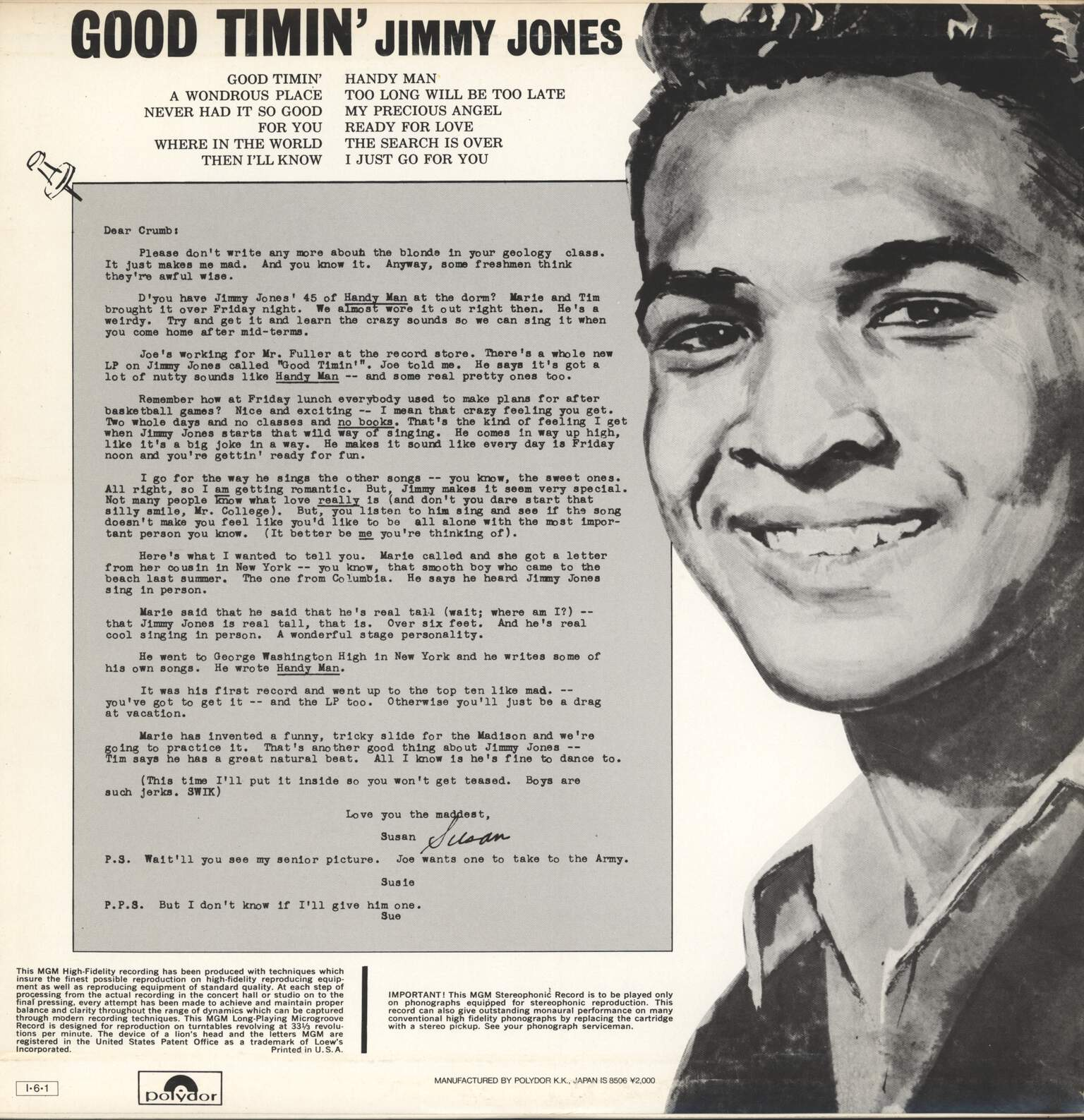 Jimmy Jones: Good Timin', LP (Vinyl)