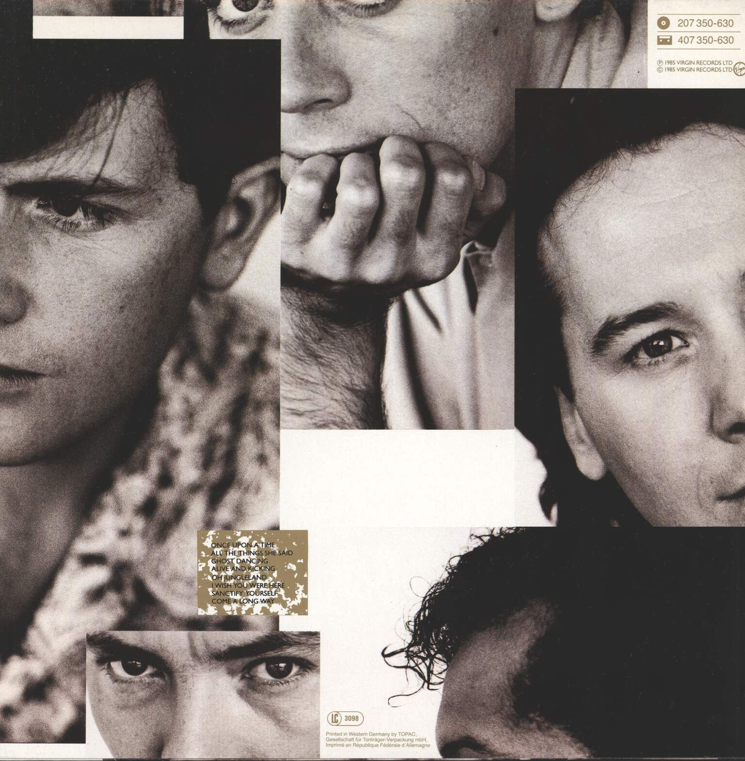Simple Minds: Once Upon A Time, LP (Vinyl)