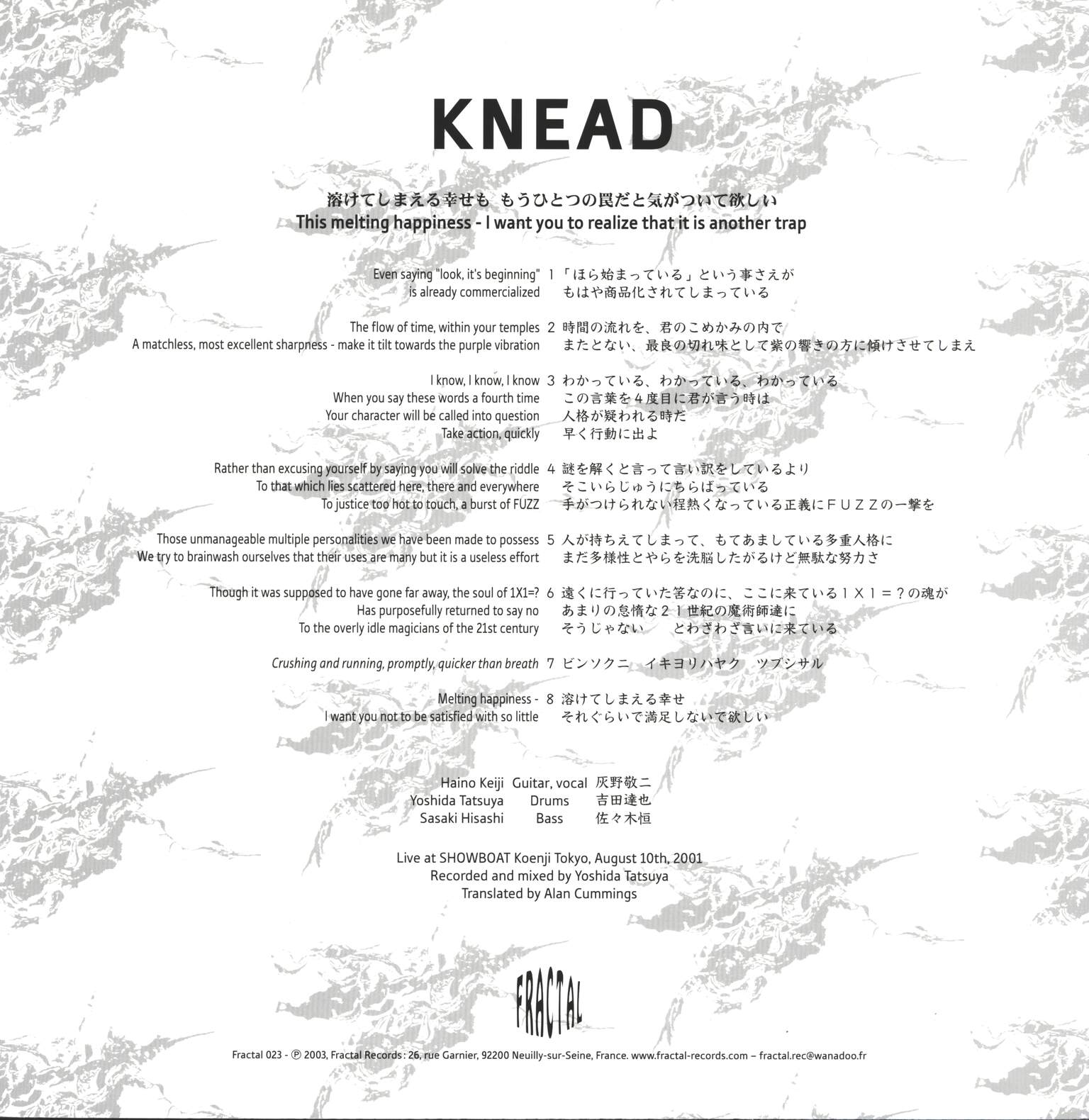 Knead: This Melting Happiness - I Want You To Realize That It Is Another Trap, LP (Vinyl)